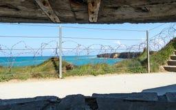 Pointe du hoc en Normand?a Francia imagen de archivo libre de regalías