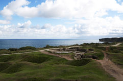 Pointe-du-hoc en Normandie, France photos stock