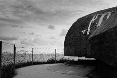 Pointe du Hoc German defences Royalty Free Stock Image