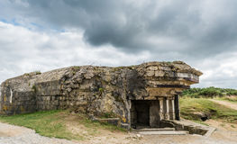 Pointe du Hoc Gun emplacement Royalty Free Stock Photography