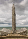 Pointe du Hoc Kommandosoldat monument Royaltyfria Bilder