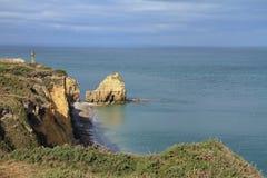 Pointe Du Hoc in Normandië Stock Foto's
