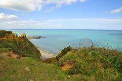 Pointe Du Hoc, Normandië stock afbeeldingen