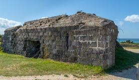 Pointe du hoc in Normandi? Frankrijk stock afbeelding