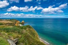 Pointe Du Hoc in Normandie lizenzfreie stockfotografie