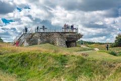 Pointe Du Hoc in Normandie lizenzfreie stockfotos