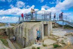 Pointe Du Hoc in Normandie stockfotos
