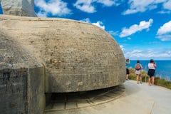 Pointe Du Hoc in Normandie stockfoto