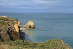 Pointe Du Hoc in Normandy Stock Photos