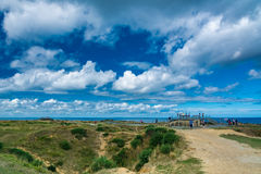 Pointe du Hoc in Normandy Royalty Free Stock Image
