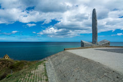Pointe du Hoc in Normandy Stock Image