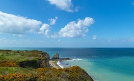 Pointe du hoc in Normandy France royalty free stock photos