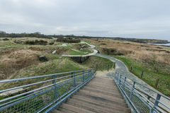 Pointe Du Hoc in Normandy, site of the Ranger invasion during Wo Royalty Free Stock Image
