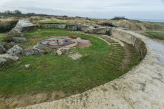 Pointe Du Hoc in Normandy, site of the Ranger invasion during Wo Stock Photo