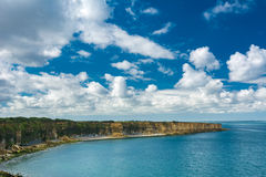 Pointe du Hoc in Normandy Royalty Free Stock Photography