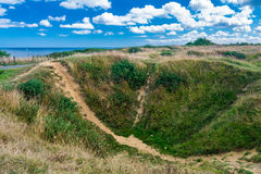 Pointe du Hoc in Normandy Stock Images