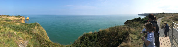 Pointe du Hoc panorama, France Stock Images