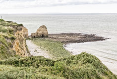 Pointe du Hoc panoramic view, Normandy - France Stock Image