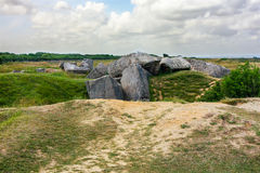 Pointe du Hoc Ruins, Normandy, France Stock Photography