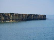 Pointe du Hoc slagfält, Frankrike Fotografering för Bildbyråer