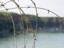 Pointe du Hoc slagfält, Frankrike Royaltyfri Foto