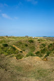 Pointe du Hoc slagfält, Frankrike Royaltyfria Bilder
