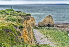 Pointe du Hoc - Wonderful Coast of Normandy Royalty Free Stock Photos