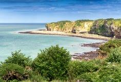 Pointe du Hoc - Wonderful Coast of Normandy Stock Images