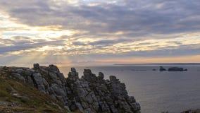 Pointe du Pluma-Hir Francia Fotos de archivo libres de regalías