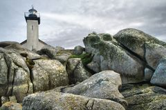 Pointe du Pontusval, Frankrijk, Hdr Royalty-vrije Stock Afbeelding