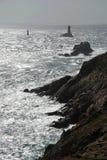 pointe du Raz,布里坦尼,法国 免版税库存照片