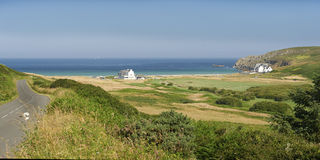 Pointe du raz in brittany. Pointe du raz beach and lighthouse in brittany Stock Photo