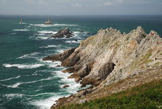 Pointe du Raz, Brittany, France Photo libre de droits