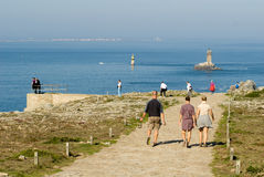 Pointe du raz in brittany france in summer 2010 Royalty Free Stock Photos