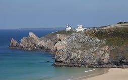 Pointe du Toulinguet in Bretagne, Frankreich Lizenzfreies Stockfoto