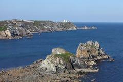 Pointe du Toulinguet, Brittany, Frankrike Arkivbild