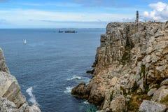Pointe du Toulinguet, cliffs around Camaret, Crozon, Brittany Stock Images