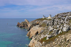 Pointe du Toulinguet.lighthouse in Brittany Stock Photos