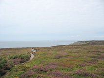 Pointe du Van и морское побережье в Бретани Стоковые Изображения