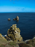 Pointe du Van e costa de mar em Brittany Imagem de Stock