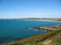Pointe du Van e costa di mare in Bretagna Immagine Stock Libera da Diritti
