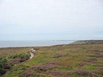 Pointe du Van en overzeese kust in Bretagne Stock Afbeeldingen