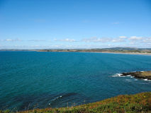Pointe du Van and sea coast in Brittany Royalty Free Stock Image