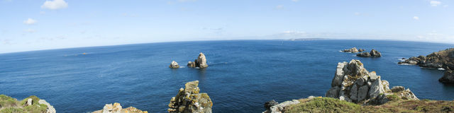 Pointe du Van and sea coast in Brittany Stock Image