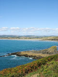 Pointe du Van y costa de mar en Bretaña Imágenes de archivo libres de regalías