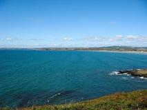 Pointe du Van y costa de mar en Bretaña Imagen de archivo libre de regalías