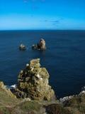 Pointe du Van y costa de mar en Bretaña Imagen de archivo