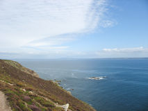 Pointe e costa di mare in Bretagna Fotografia Stock