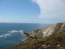 Pointe e costa di mare in Bretagna Immagine Stock