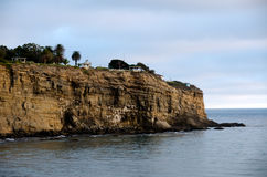 Pointe Fermin Lighthouse. On a bluff Royalty Free Stock Photos